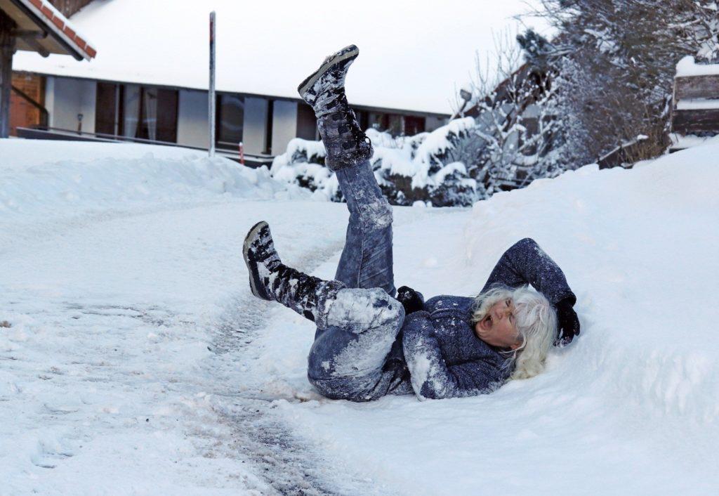 Photo of Woman Falling on Ice - Premises Liability